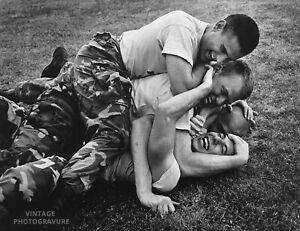 1985-BRUCE-WEBER-Vintage-Photo-Gravure-16X20-Print-Military-Male-TEXAS-A-amp-M-Men