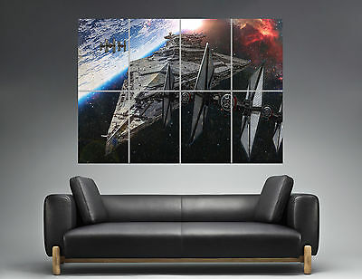 STAR WARS IMPERIAL DESTROYER MOVIE Wall Poster Grand format A0  Print