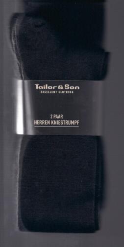 Tonte wollmix 2 paire Business-montantes Noir div taille tailor /& son *