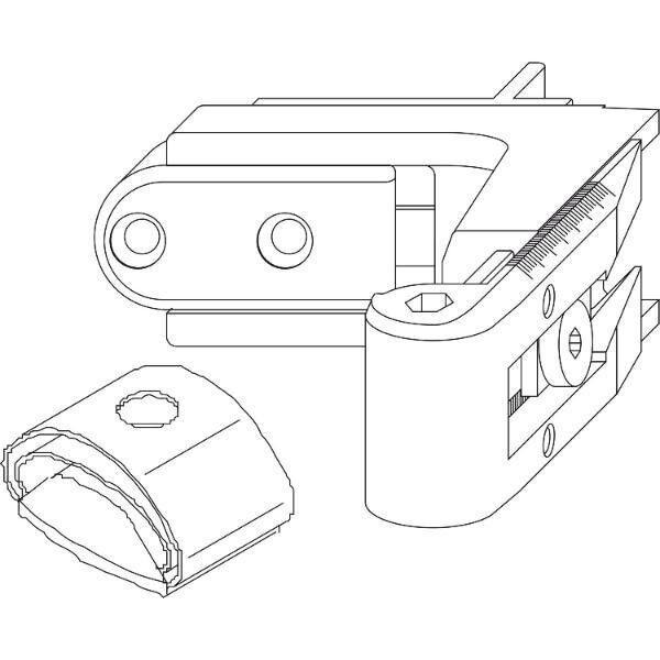 RUSTICO Ladeninnenöffner-Kurzband BLR Gr. 3, verstellbar, schwarz ( Maco  56928