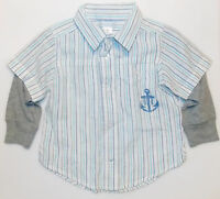 Old Navy Infant Boys Long Sleeve Shirt First Mate Size 12-18 Months