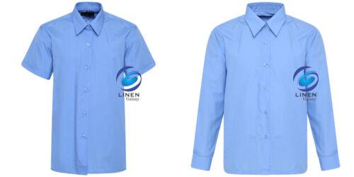 Kids Girls School Uniform Blouse 2 Colours Shirt Long /& Short Sleeve