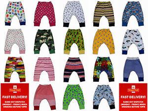 kids-girls-toddler-boys-trousers-leggings-harem-pants-2-3-4-5years-cotton