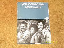 Hues Corporation sheet music You Showed Me What Love Is 1975 6 pages (NM shape)