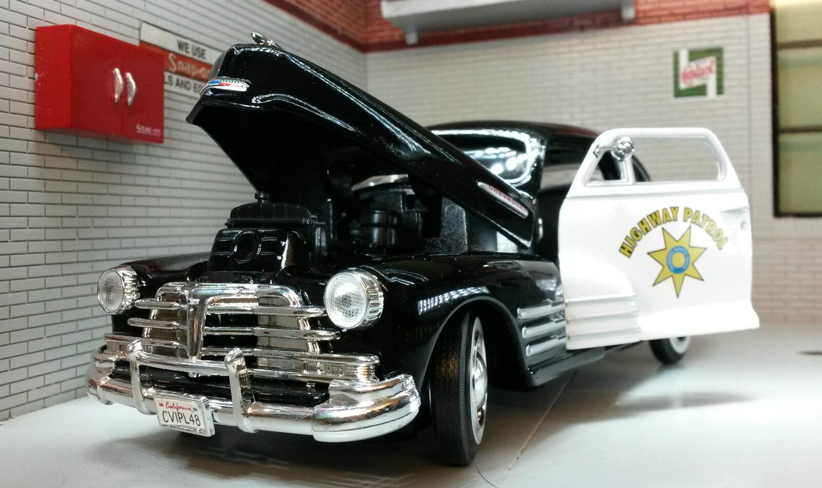 G LGB 1 24 Scale Chevrolet Aepinkdan Fleetline 1948 USA Highway Police Car 76400