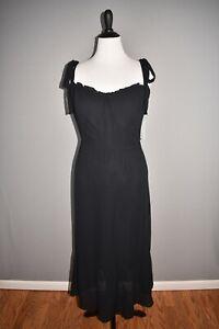REFORMATION-NEW-248-Black-Nikita-Sleeveless-Midi-Dress-Size-14