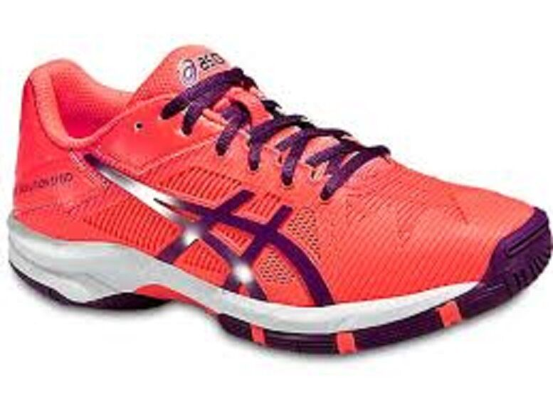 NEW WOMEN'S ASICS GEL-SOLUTION SPEED 3 (0633  CORAL PLUM CORAL) TENNIS SHOES.
