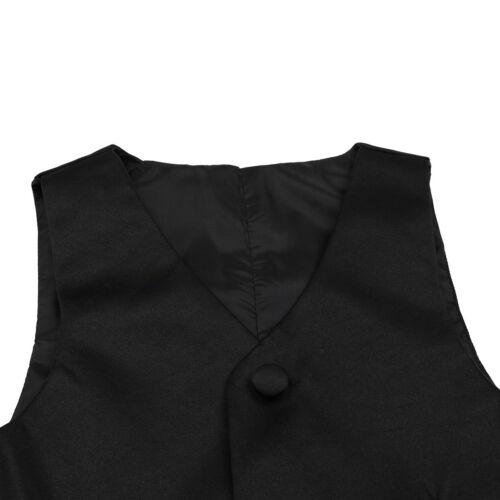 Kids Boys Formal Tuxedo Vest Wedding Waistcoat Gentleman Suit Floral Pattern