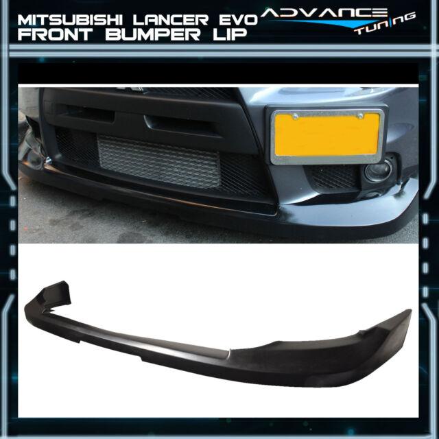Fit 08-15 Mitsubishi Lancer EVO X 10 JDM OE Style Front Bumper Lip Unpainted PU