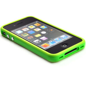 Brand-New-Green-Bumper-Case-For-Apple-iPhone-4-4G-UK