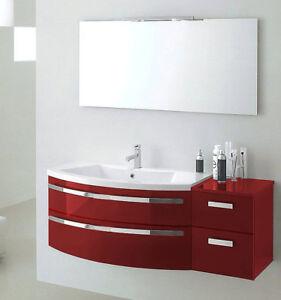 Mobile da bagno curvo moderno sospeso vari colori ly07 ebay - Mobile bagno curvo ...