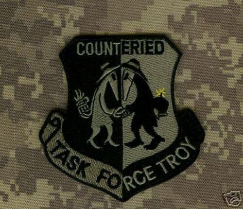 OPERATION IRAQI FREEDON GULF WAR COUNTER IED TASK FORCE TROY OIF ACU INSIGNIA