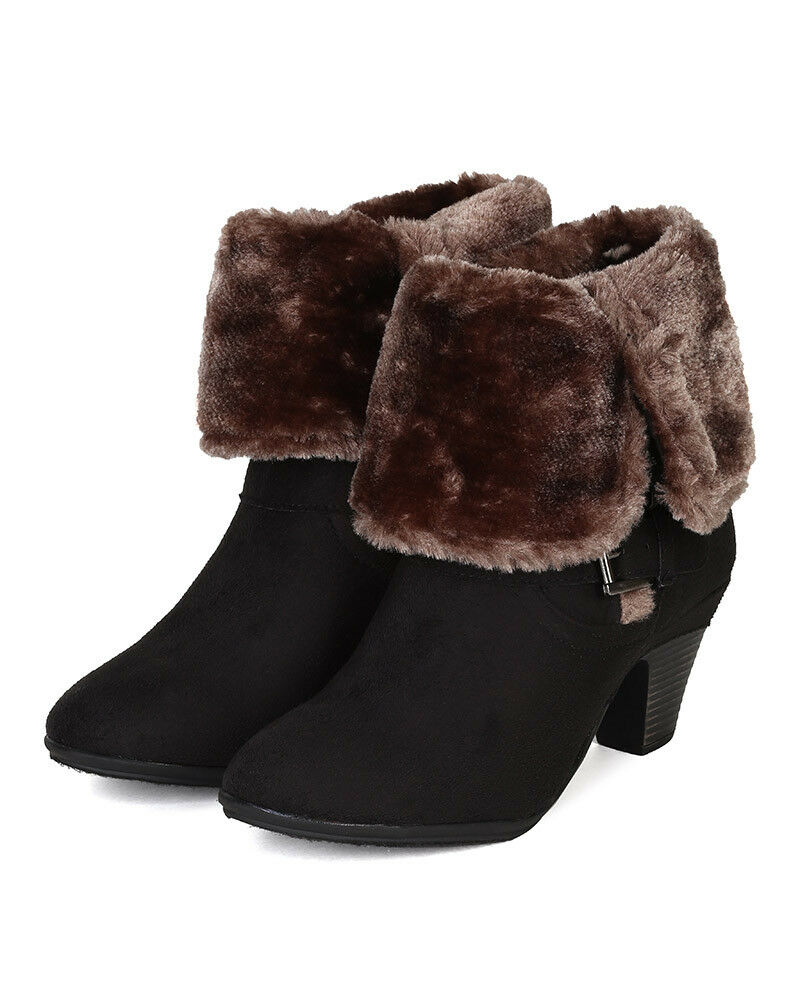 Bumper Belle-04 New Suede New Belle-04 Damens Round Toe Fur Shearling Foldable Boot 9fdbac