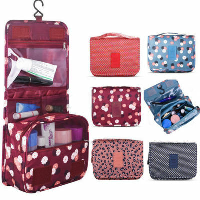 Folding Hanging Travel Cosmetic Wash Bag Makeup Tidy Organizer Pouch Toiletry