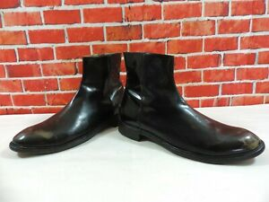 8bb6a1dcb35 Details about # Paul Smith Boots Black Bronzed UK 9 US 10 EU 43 Chelsea  Chukka Zip Italy calf