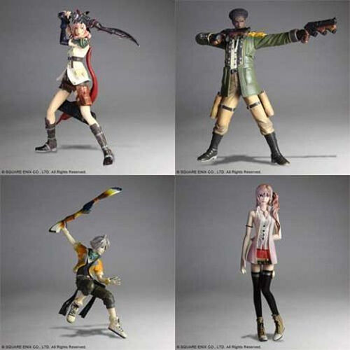 """*NEW IN BOX* Final Fantasy XIII Trading Arts 4 5/"""" Figure Action Set"""