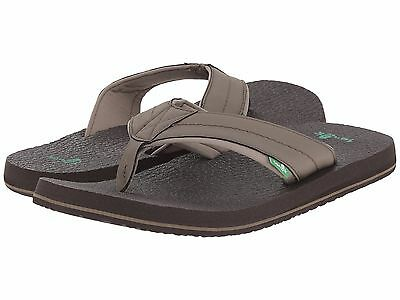Men/'s Shoes Sanuk BEER COZY 2 Casual Flip Flop Sandals SMS10868 CHARCOAL *New*