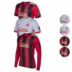 b183ebf6ba Details about Atlanta United FC MLS Adidas On-field Men's Long / Short  Sleeve Jersey