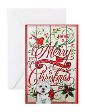 Merry West Highland White Terrier Christmas Card Holiday Westie Set of 10