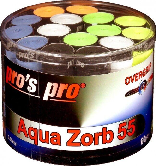 60 Overgrips Pros Pro AQUA Zorb 55 bunt - Griffband für stark schwitzende Hände