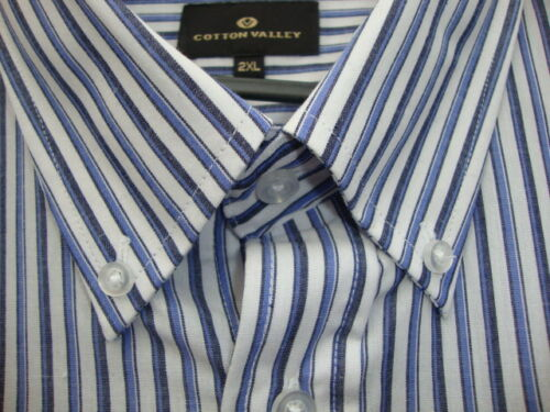 SHORT SLEEVE BLUE PATTERNED SHIRT FROM COTTON VALLEY 2XL3XL4XL5XL6XL7XL8XL