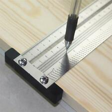 6 inch Stainless Steel T-Rule Ruler Marking Rules T-square Hole Woodworking Tool