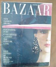 Vintage Harper's Bazaar November 1960 Derujinsky cover