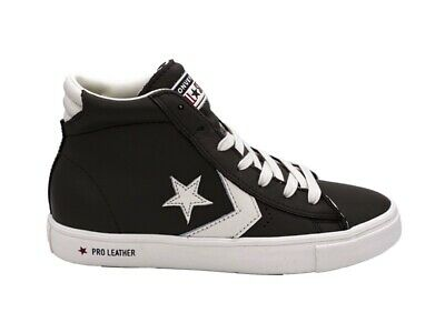 converse pro leather vulc mid bianche