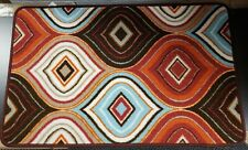 """PRINTED KITCHEN RUG non skid latex back 18/"""" x 28/"""" 3 GRAPES TYPES by EHF"""