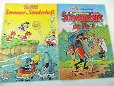2 x Fix und Foxi - Sonderheft - Sommer, Schwarzbart - Rolf Kauka -  Z.  sehr gut