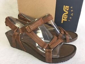 b6c144af746a5d Image is loading Teva-Ysidro-Universal-Wedge-Leather-Womens-Sandal-Low-