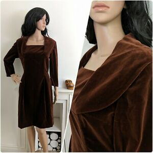 Vintage-John-Selby-London-1950s-Brown-Velvet-Wiggle-Cocktail-Dress-50s-10-38