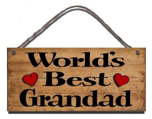 FUNNY WOODEN  SIGN  WORLDS BEST GRANDDAD GIFT PRESENT