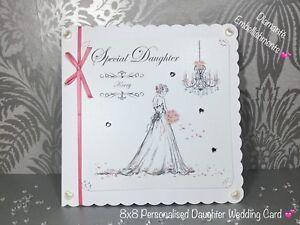 Personalised Daughter Wedding Card Granddaughter Wedding Day Bride