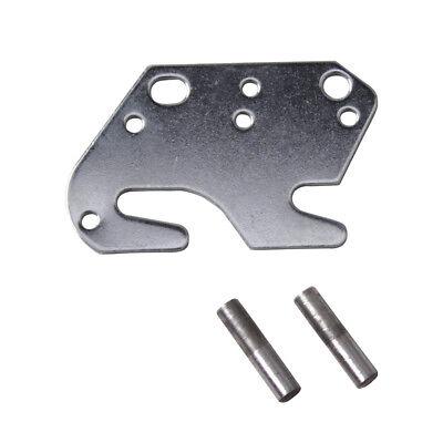 "4 Bed Rail Double Hook Flat Slot Plates Fits 2/"" Bracket or Bed Post 13 ga Steel"