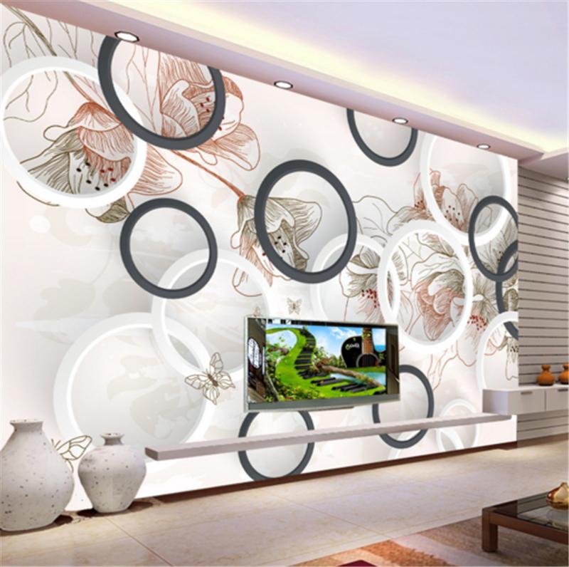 3D Circle Orange Flower 90 Wallpaper Mural Paper Wall Print Wallpaper Murals UK