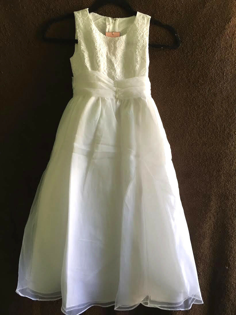 AVA by AA BRIDAL GIRLS Dress WHITE size 6 and 14