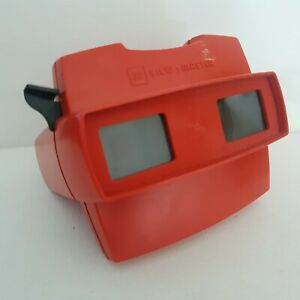 View master Slide reel Viewer red  3D Viewmaster
