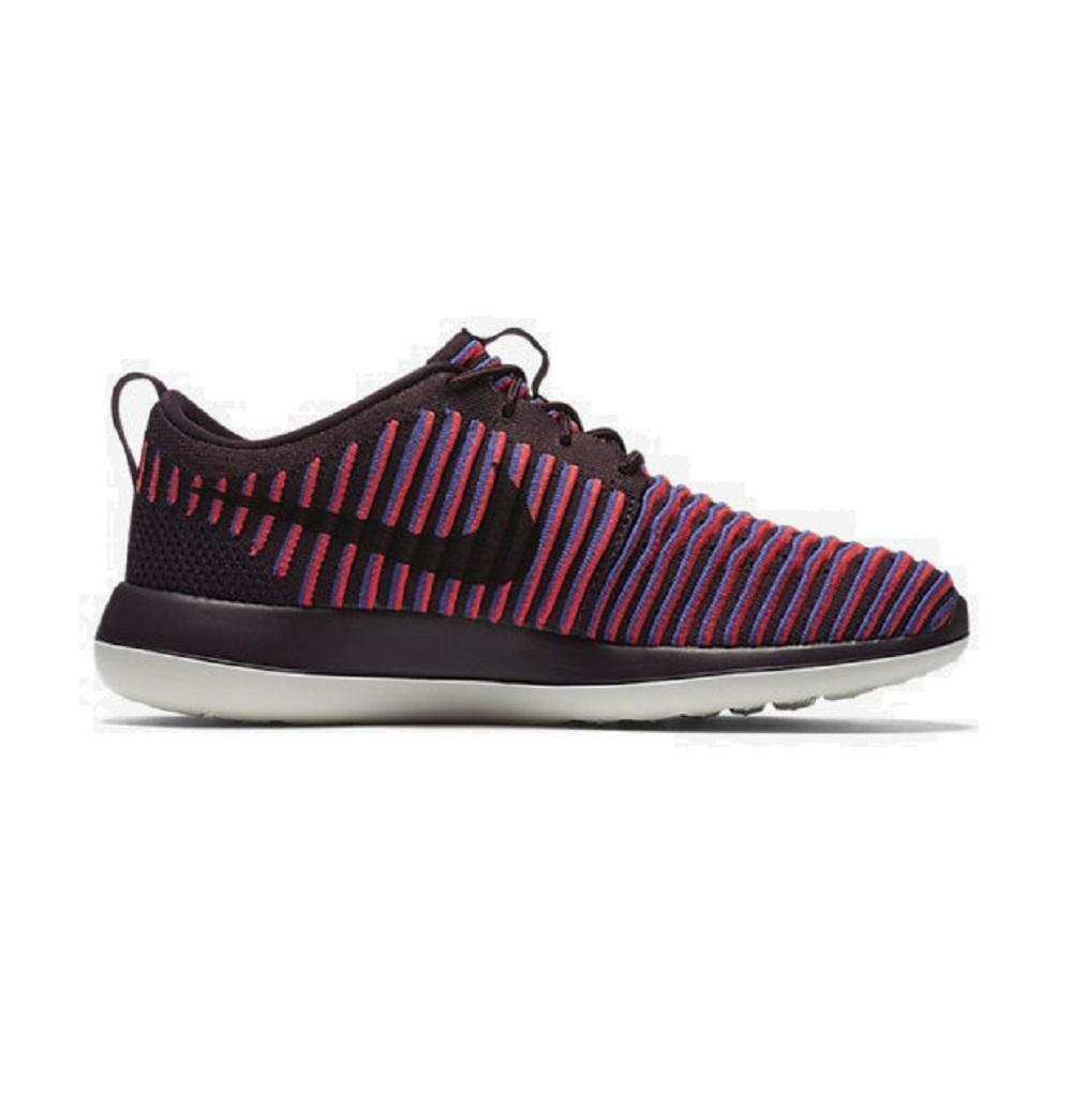 Femme NIKE ROSHE TWO FLYKNIT 844929 Deep Burgundy fonctionnement Trainers 844929 FLYKNIT 601 97f07a
