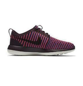 48cb96a24ca79 Womens NIKE ROSHE TWO FLYKNIT Deep Burgundy Running Trainers 844929 ...