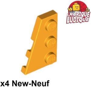4x Aile Wedge plate 2x3 droite right orange 43722 NEUF Lego
