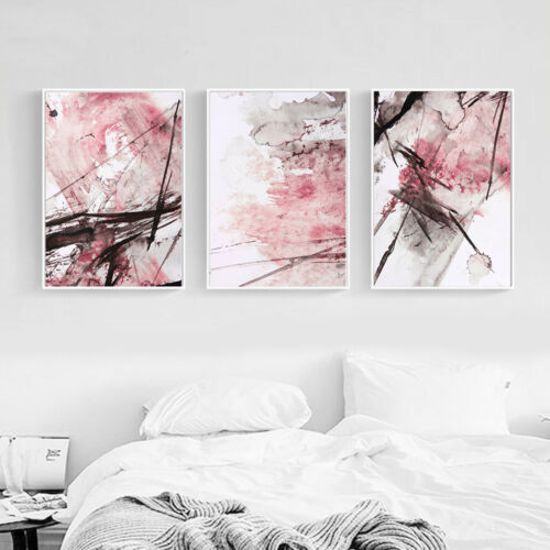 Watercolor Realistic Abstract Canvas Poster Wall Art Print Modern Home Decor