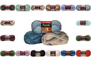 Premier-Yarns-Puzzle-Yarn-5-Medium-Worsted-No-Dye-Many-Prints-Tones