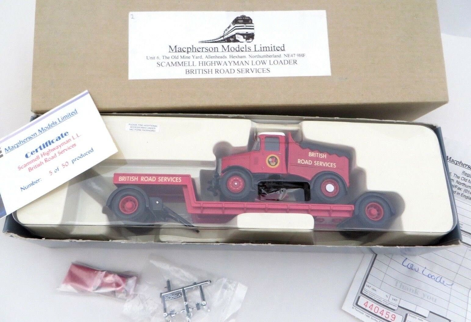 Corgi Code 3 Scammell Highwayman Low Loader British Road Services 16901 Lt Ed 50