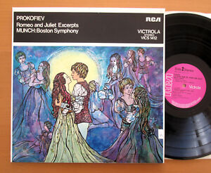 VICS-1412-Prokofiev-Romeo-amp-Juliet-Excerpts-Munch-Boston-RCA-Stereo-NEAR-MINT-LP