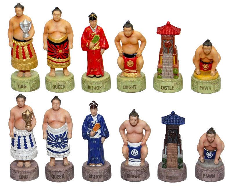 Chess set pieces japonais Sport SUMO Lutteurs nouveau