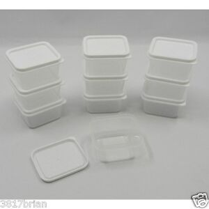 40 small square plastic mini storage containers 23 fl ozcontainer