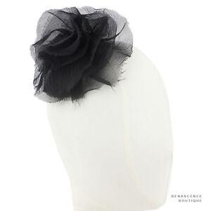 Maison-MIchel-Paris-Black-Rose-Silk-Chiffon-Comb-Fascinator