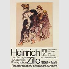 Zille, Heinrich . Ausstellungsplakat zum 50. Todestag des Künstlers. 1979