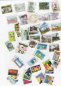 France: lot of 150 stamps cancelled all different from 2014 to 2016
